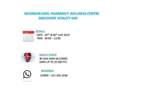 Noordheuwel Pharmacy : Wellness Centre Discovery Vitality Day